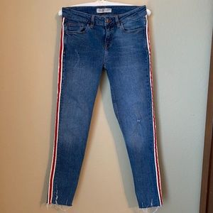 Zara Basic Denim Z1975 Side Stripe Skinny Jeans